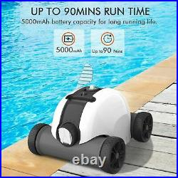 ABOVE INGROUND AUTOMATIC Swimming Pool Smart Robotic Vacuum Cleaner Cordless New