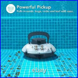 Best Automatic Swimming Pool Above Inground Robotic Vacuum Cleaner Cordless New
