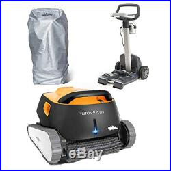 Dolphin Maytronics Triton PS Plus Automatic Pool Cleaner with Caddy & Caddy Cover