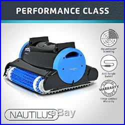 Dolphin Nautilus Automatic Robotic Pool Cleaner with Dual Filter Cartridges, up