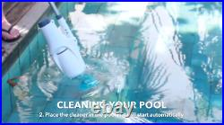 In Ground Swimming Pool Vacuum Spa Cleaner Maintenance Automatic Rechargeable