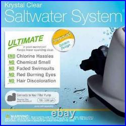 Intex 120V Krystal Clear Saltwater Swimming Pool Chlorinator (For Parts)(2 Pack)