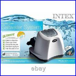 Intex 120V Krystal Clear Saltwater System 15000 Gallon Swimming Pool Chlorinator