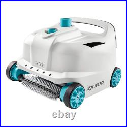 Intex 28005EX automatic robot ZX500 cleaner with wheels for above ground pools