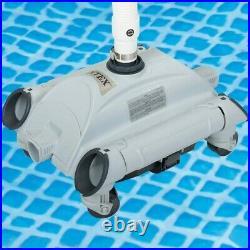 Intex Automatic Hose Swimming Pool Vacuum Pool Cleaner Grey/Black Clean Garden