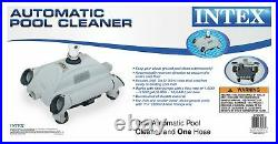 Intex Automatic Pool Side Vacuum Cleaner with 24 Hose & Hydro Tools Pool Skimmer