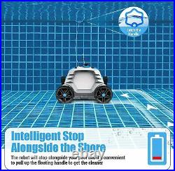 OT QOMOTOP Robotic Pool Cleaner, Cordless Automatic Pool Cleaner with 5000mAh Re