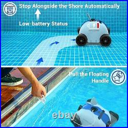 PAXCESS Cordless Automatic In-Ground Pool Cleaner Robotic Rechargeable Vacuum