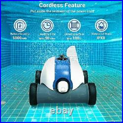 PAXCESS Cordless Automatic Pool Cleaner with 5000mAh Rechargeable Battery