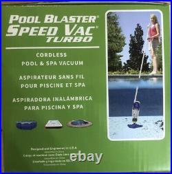 Pool Blaster Speed Vac Turbo Cordless Pool & Spa Vacuum Cleaner Automatic Suctio