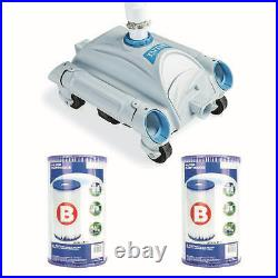 Pool Cleaner Pressure Side Vacuum Cleaner Bundled with Replacement Filter (2Pack)
