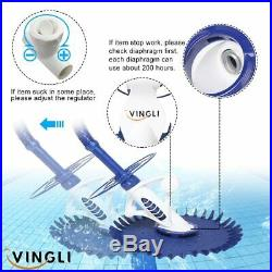 VINGLI Pool Cleaners Vacuum Automatic Swimming Pool Cleaner with Additional and