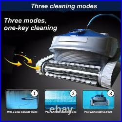 Wireless Robotic Swimming Pool Cleaner Intelligent Remote Control Automatic