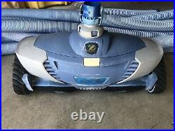 Zodiac Mx8 Baracuda Automatic Suction Pool Cleaner Plus 9 Hoses For Parts